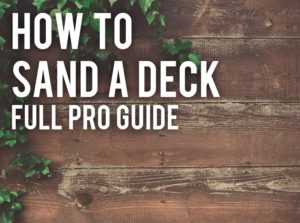 how to sand a deck